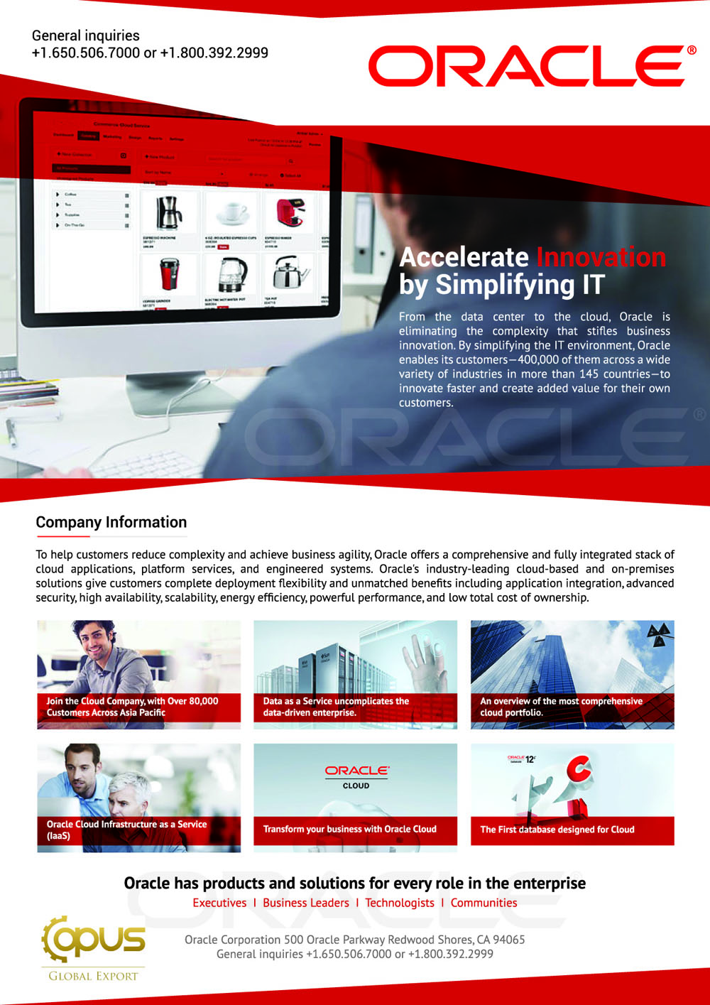 Oracle Corporation Brochure